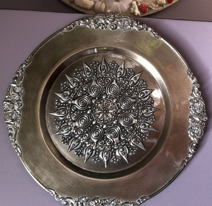 Pewter plate by Lolita R