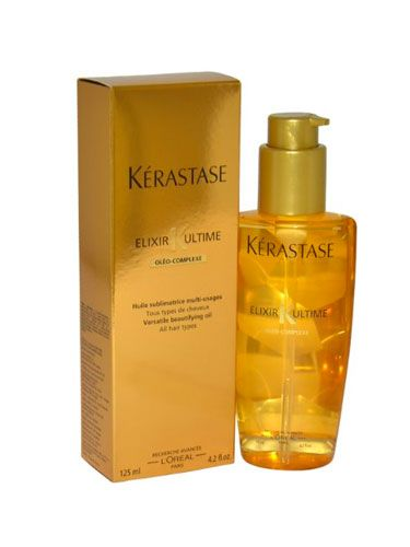 Kerastase Elixir Ultime Serum. If you want silk and smooth hair, use a bit of this!