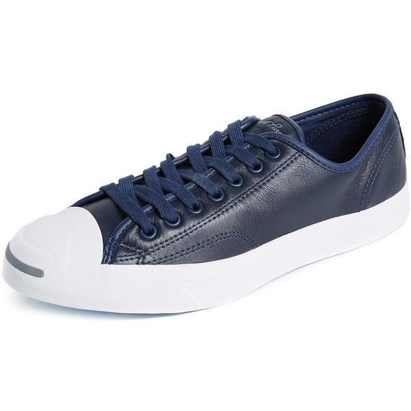 f67fdc857a49 Converse Jack Purcell Jack Leather Sneakers ( 81) ❤ liked on Polyvore  featuring men s fashion