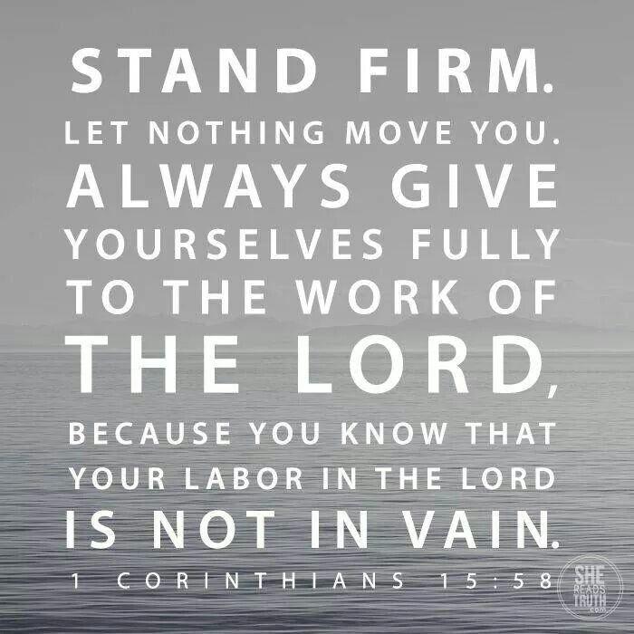 1st Corinthians 15:58