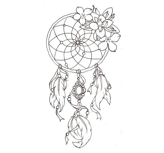 Dream catcher tattoo except maybe with a lotus flower and for Dreamcatcher weave patterns