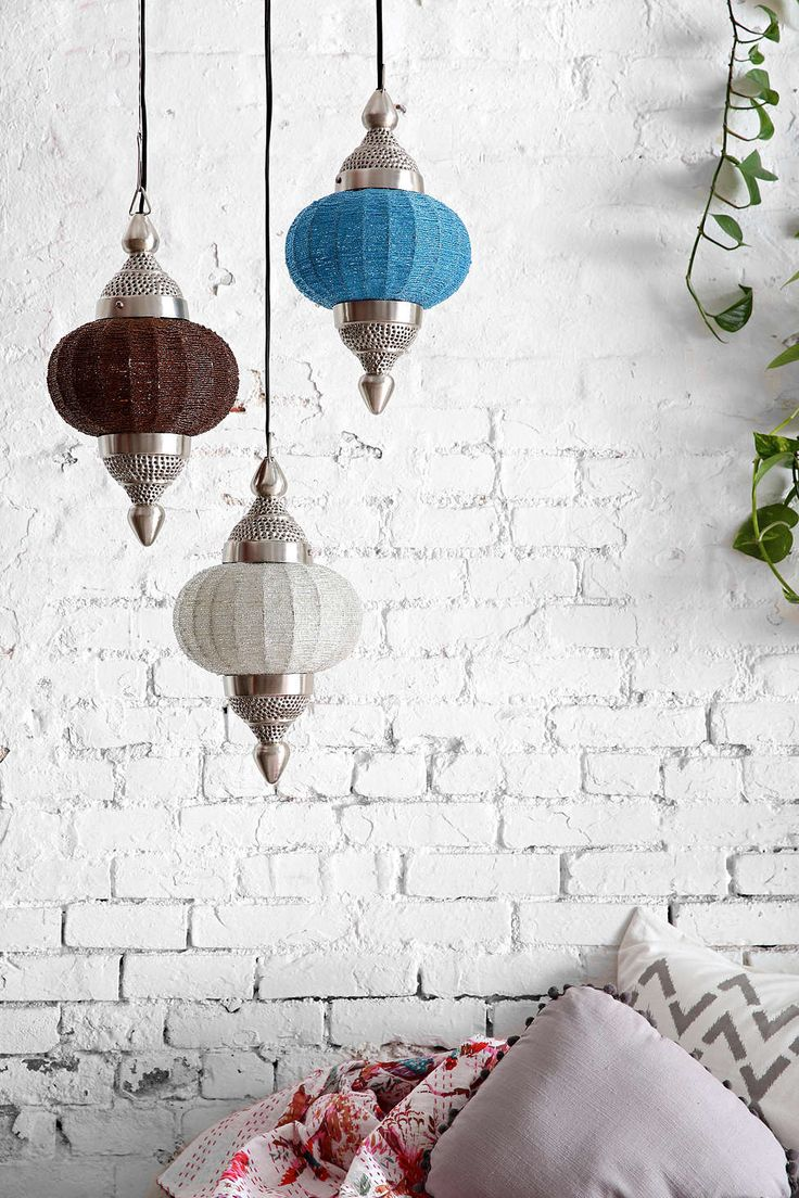 Moroccan is romantic.  Perfect addition to accent that brick wall.