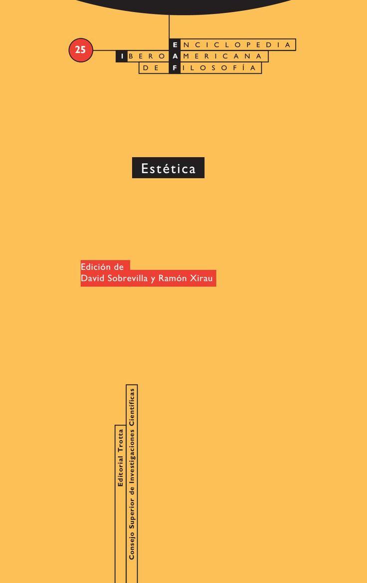 Enciclopedia iberoamericana de filosofia vol 25 estetica