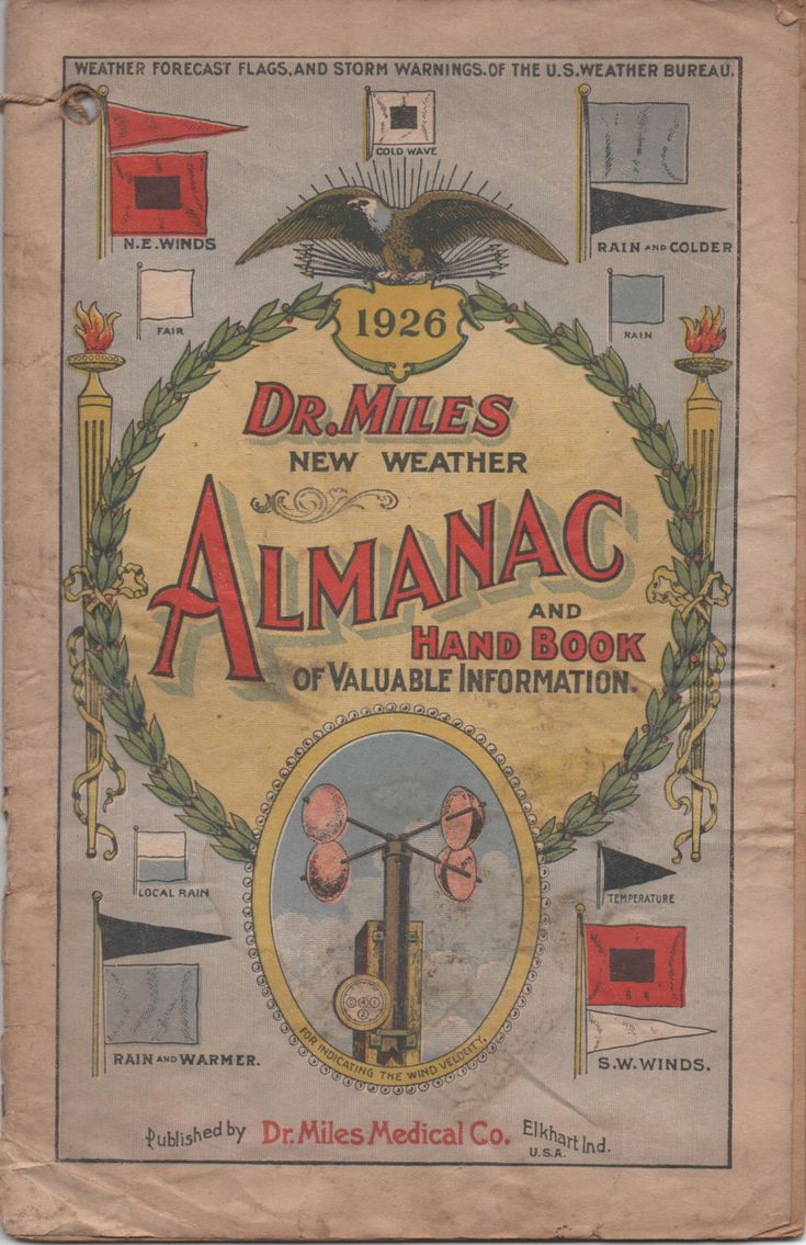 1926 Dr. Miles New Weather Almanac and Handbook of Valuable Information, fair shape by VintageNEJunk on Etsy