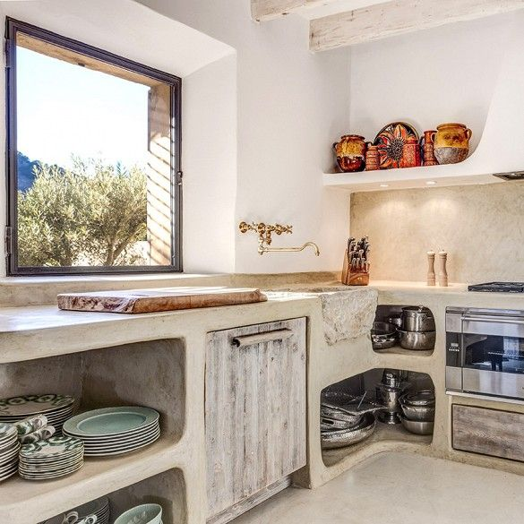Inside an Elegant But Rustic Home in Mallorca via @domainehome: