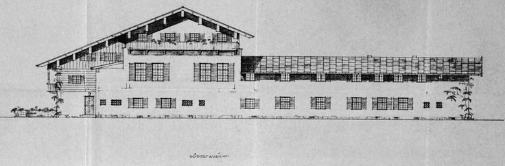 Refurbishment plans by architect Alois Degano