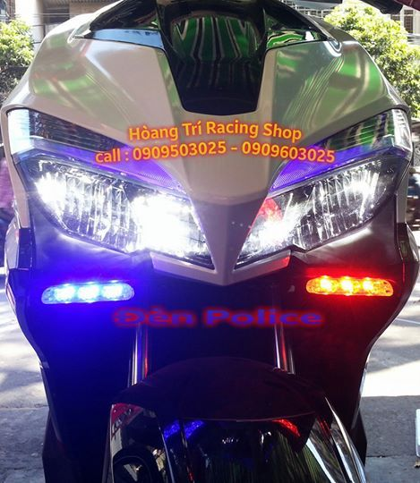 Đèn Police độ cho xe Air Blade 2016