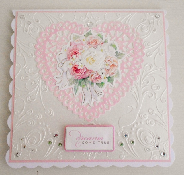 Shabby chic Wedding card £2.50
