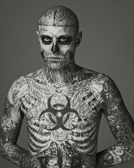 Rick Genest AKA Zombie Boy... something about him is so hot... (and I really don't even know that it's the tattoos!) default-rick-genest-img
