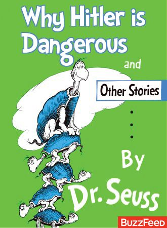 What Dr. Seuss Books Were Really About (Yertle the Turtle is an easy one to read into). Lots of titles with replacements.