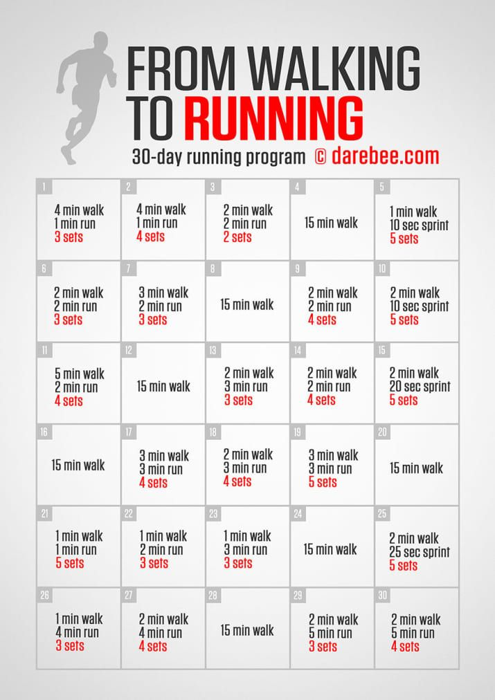 Take it nice 'n' easy, and before you know it, you'll be a runner. From Darebee.
