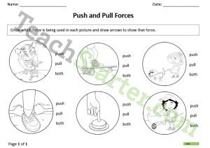 Push and Pull – Forces Worksheet