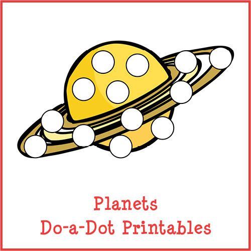 Planets Do-a-Dot Printables store product image