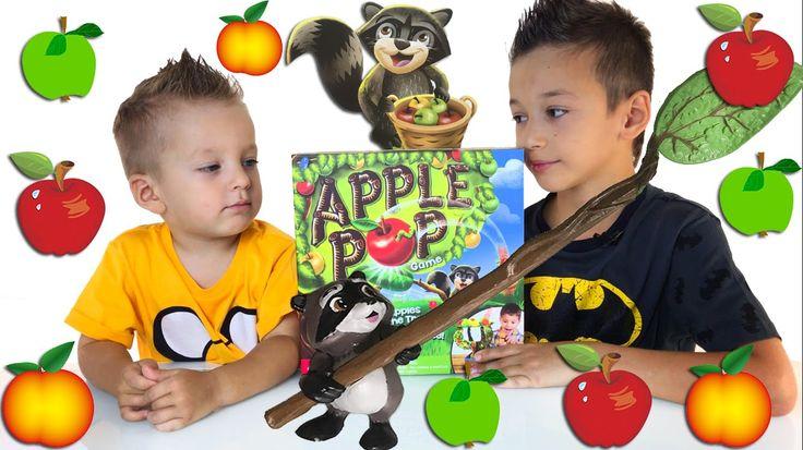 Сбиваем яблоки Игры Для Детей Распаковка Family Fun Game Night for Kids Apple Pop Game - YouTube