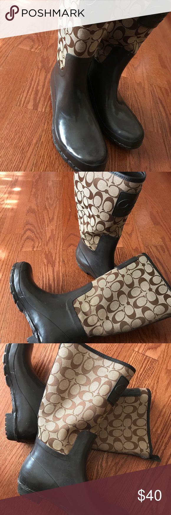 Coach rain boots Coach brown Coach Shoes Winter & Rain Boots