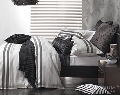 Logan & Mason Flinders Pewter Quilt Cover Set, available at Forty Winks.