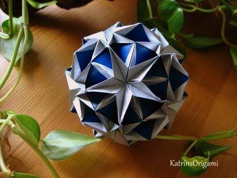 Schwierigkeit ♥♥♥♡♡ dieser super schöne Kusudama ist ein Design von Valentina Minayeva Thank you so for permission :-) Gefaltet habe ich aus 9 x 9 cm Kraftpa...