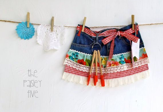 Frilly Glam Baking Apron... Cottage Chic Denim by ThePaisleyFive, $35.00