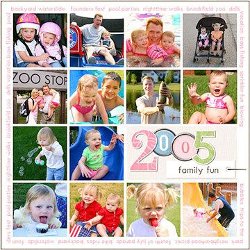 Create a Photo Grid on Your Digital Scrapbook Page