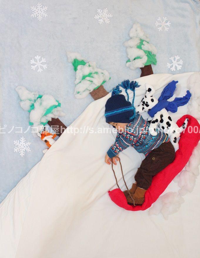 「「ソリ遊び」no.219」の画像 ピノコノコ部屋☆ベビタンの寝相アート☆  Ameba (アメーバ)