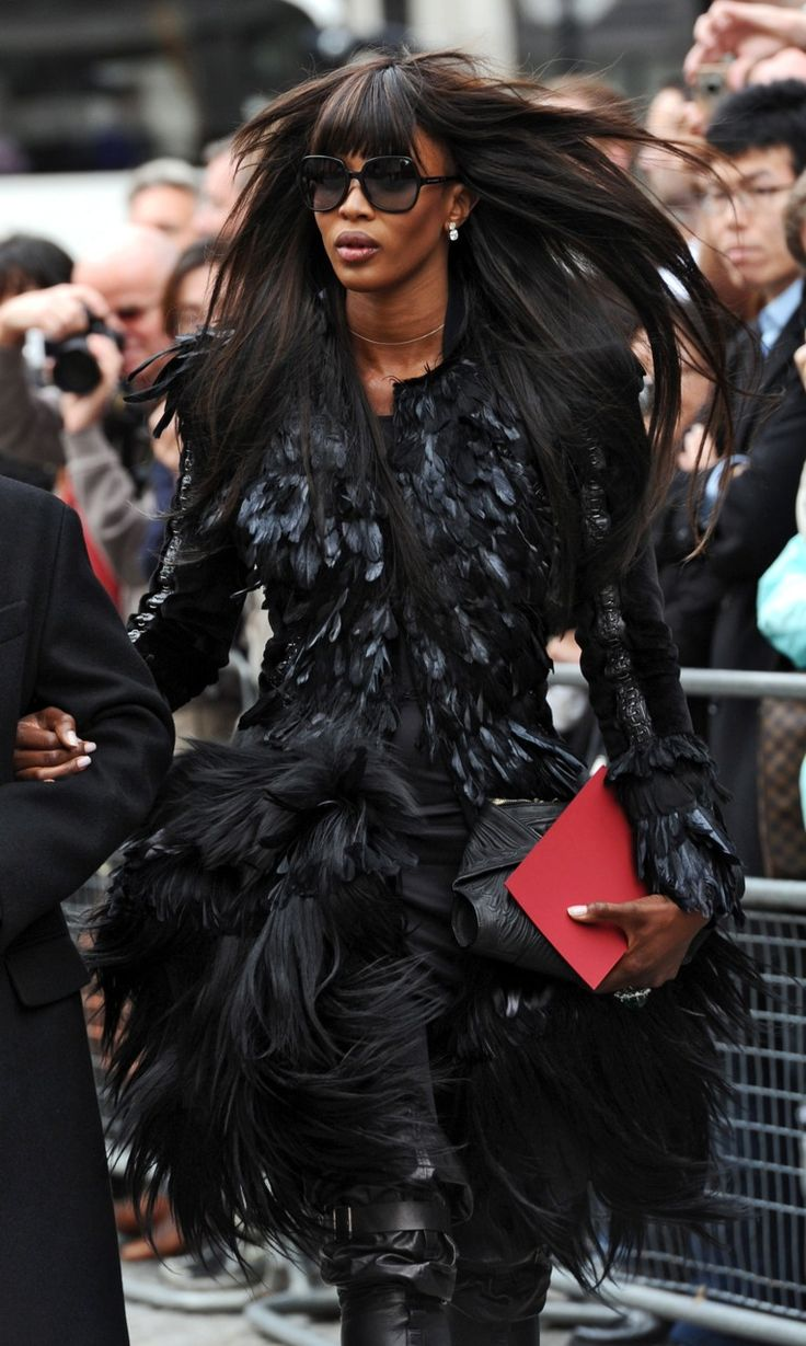 Naomi Campbell attending the Memorial service for Alexander McQueen - I'm a fan of Naomi and McQ