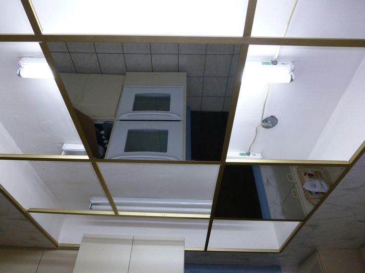 Mirror Drop Ceiling Tiles