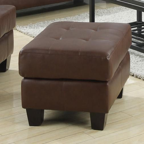 dark brown bonded leather ottoman foot stool by coaster httpwww - Brown Leather Ottoman