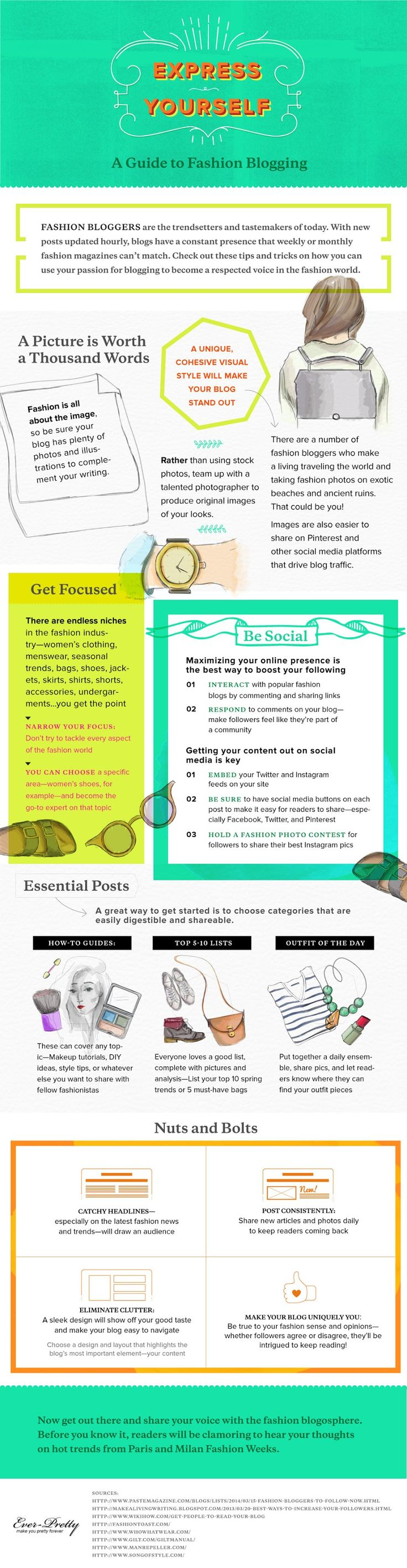 A Guide To Fashion #Blogging – How To Start A Fashion Blog #Infographic