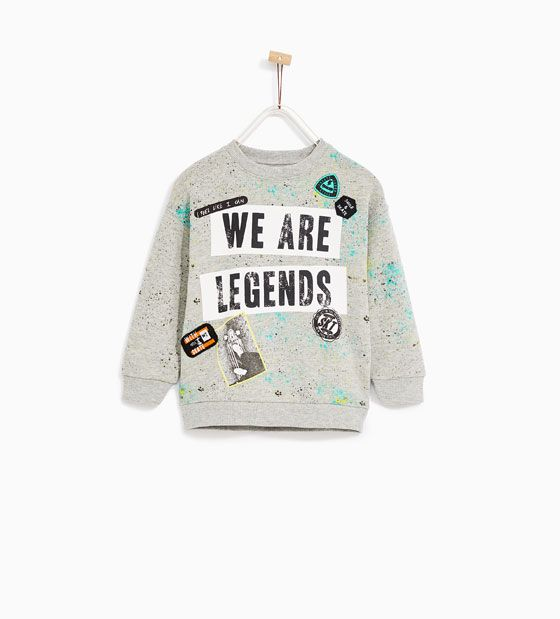 ZARA - KIDS - PATCH AND PAINT-SPLATTER SWEATSHIRT