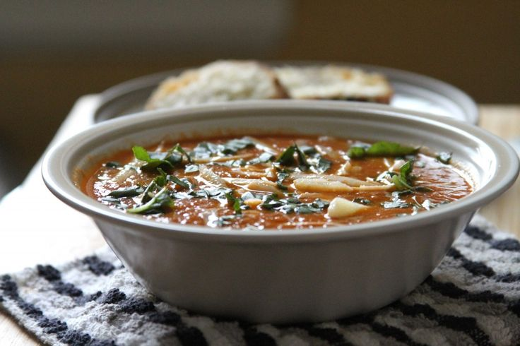 Tomato and roasted garlic soup | soup's on! | Pinterest