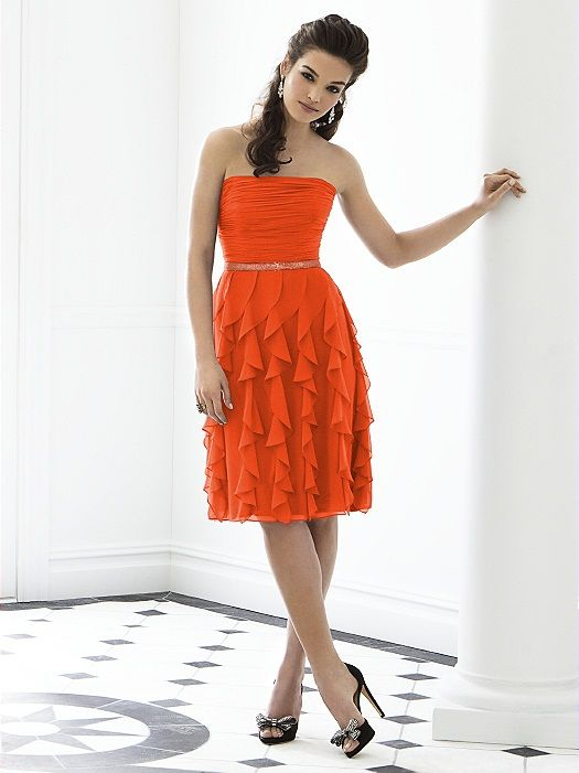 This will be the Maid of Honor Dress and the Bridesmaids will be in oasis or Ocen Blue. After Six Bridesmaid Style 6649 http://www.dessy.com/dresses/bridesmaid/6649/#.UfK6C42G2Nw