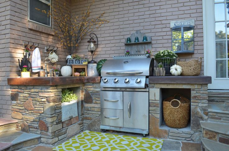 I like the grill surrounds where you can slide your regular grill in.  This one is particularly nice with the sink, niches, and storage.