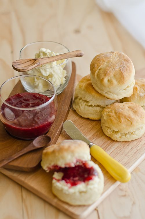 Scones with clotted cream and jam- yummmm!