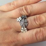 Inel argint Flori de Cires, model tip Pandora