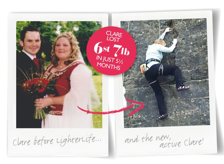 Clare Fitzpatrick lost 6st 7lb in just 5.5 months with us & has taken up rock climbing with her family. 'If I hadn't joined LighterLife, I'd still be watching them have all the fun - now I'm racing them up the wall!' she told us. Go Clare!