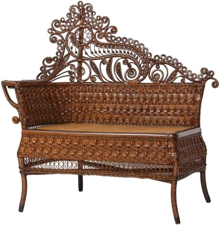 Old Victorian Wicker Photographeru0027s Bench