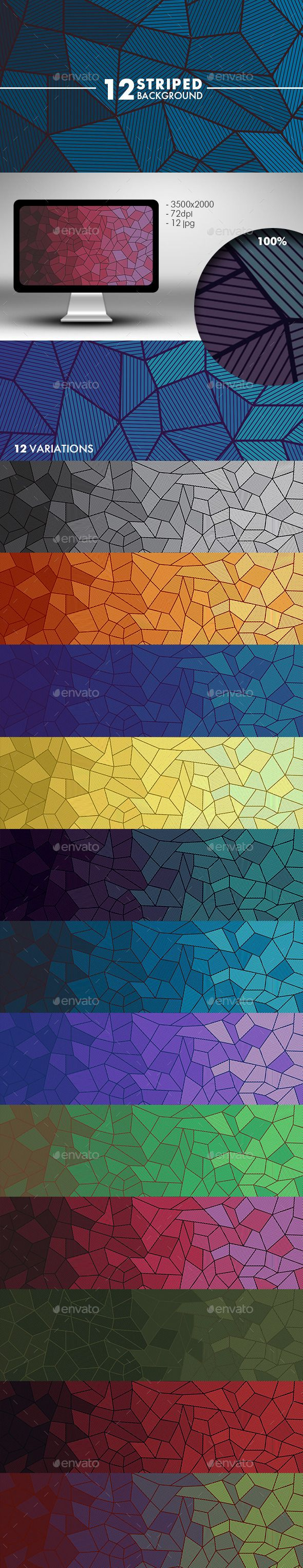 Striped Background by Kanilo Website and Desktop Backgrounds Size: 35002000px, RGB , 72dpi 12 High Resolution JPGs