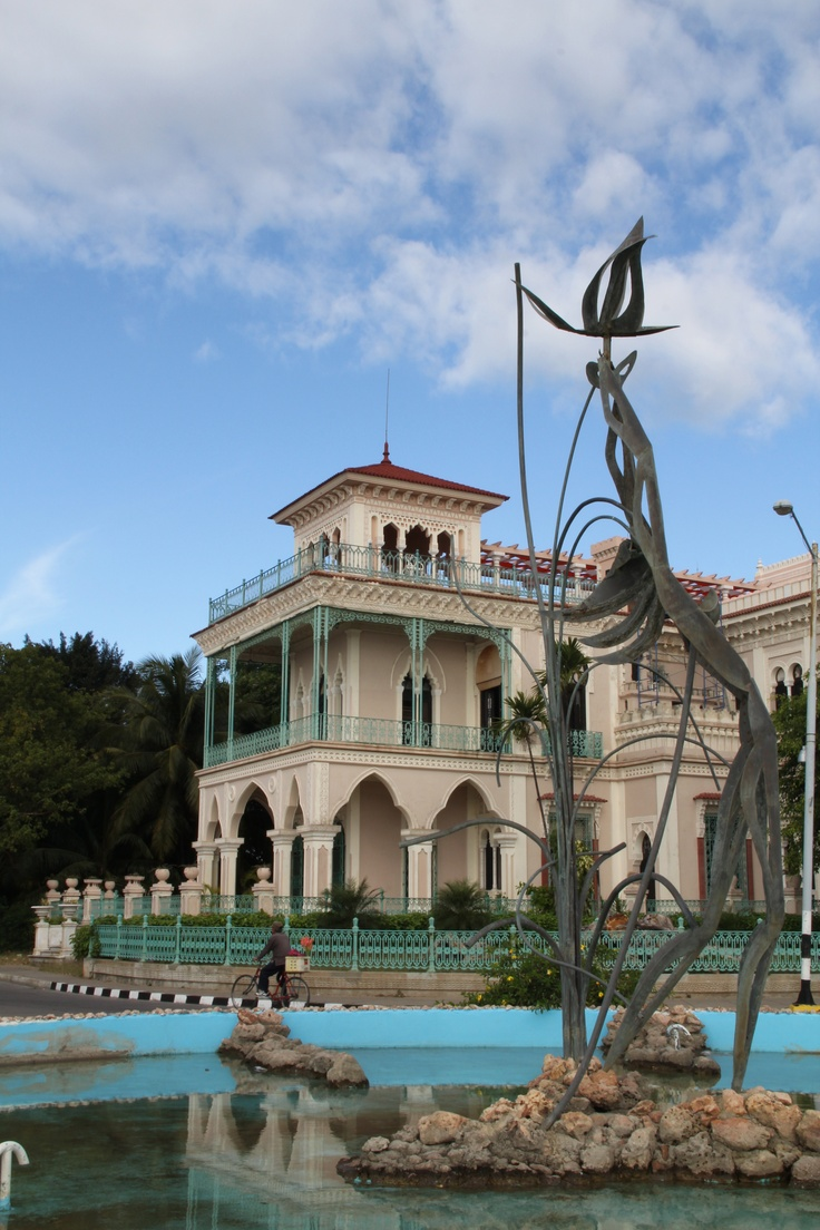 Palacio de Valle, Cienfuegos, Cuba. Built in 1917 by Alcisclo Valle Blanco, a Spaniard from Asturias, the structure resembles an outrageously ornate Moroccan casbah. Batista planned to convert this colorful riot of tiles, turrets and stucco into a casino, but today it's an (aspiring) upscale restaurant with an inviting terrace bar. [http://www.lonelyplanet.com/cuba/cienfuegos/sights/architecture/palacio-de-valle]