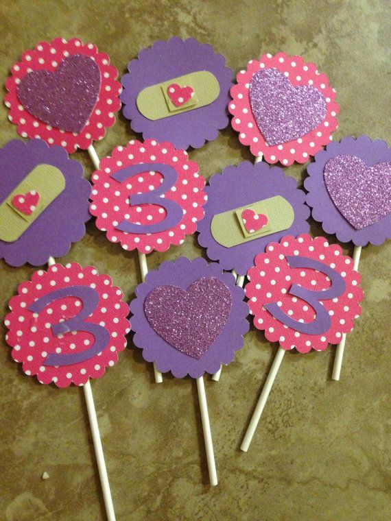 Doc Mcstuffins cupcake toppers 12 count by DivineGlitters on Etsy