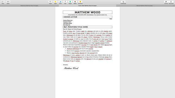 Resume template with a cover letter and references template! Get a great resume instantly! Resume idea, pretty resume, beautiful resume, personal resume, resume examples, perfect resume example, good resume, job resume, clean resume, best resume templates, resume samples, resume building, resume design template, creative resume ideas, resume template word, resume references, resume inspiration, professional resume template, downloadable resume templates, cv template, resume design layout, resume