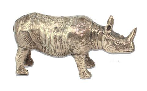 Ronny Brass Rhino   Mr Pinchy and Co   Luxury Decor – Salt Living or online at www.saltliving.com.au #saltliving #mrpinchyandco #brass #handmade