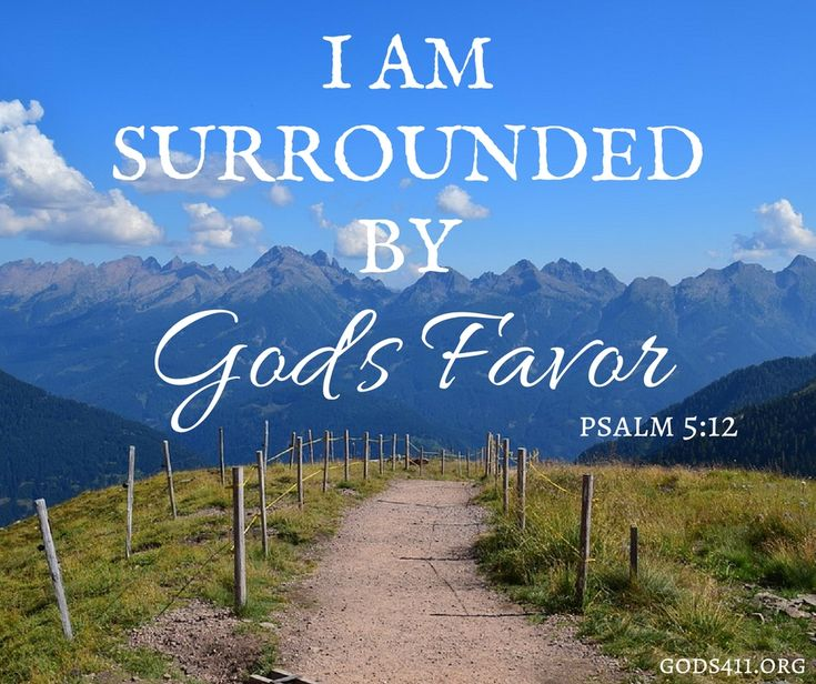 """""""For it is You who blesses the righteous man, O LORD, You surround him with favor as with a shield."""" Psalms 5:12 NASB"""