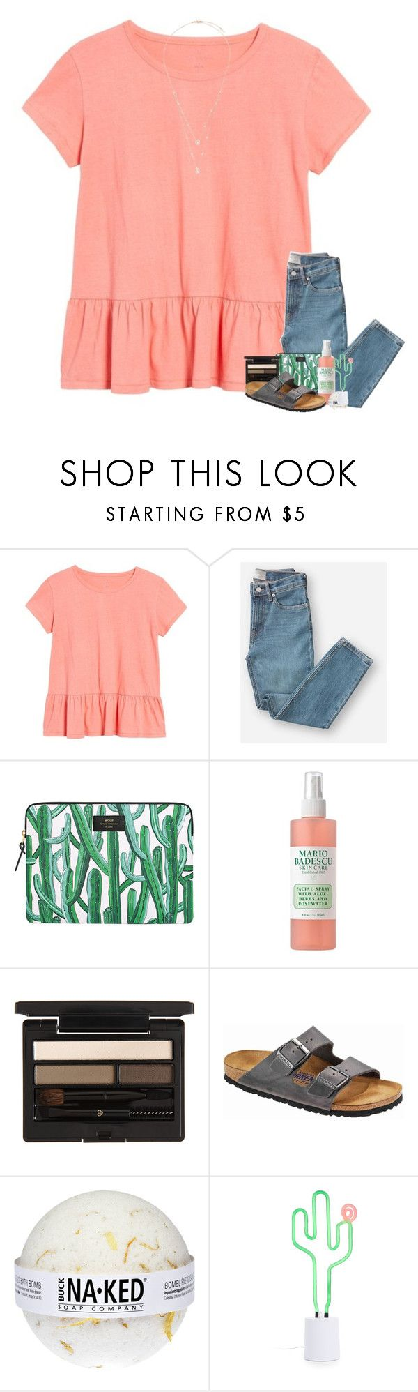 """xoxoxo"" by classyandsassyabby ❤ liked on Polyvore featuring Caslon, Everlane, Wouf, Mario Badescu Skin Care, Clé de Peau Beauté, Birkenstock, Sunnylife and Messika"