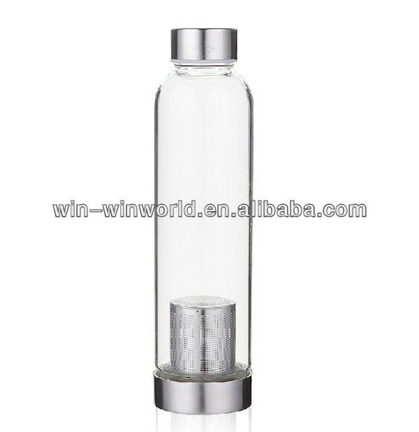 Promotion Travel Borosilicate Glass Water Bottle With Filter Photo, Detailed…
