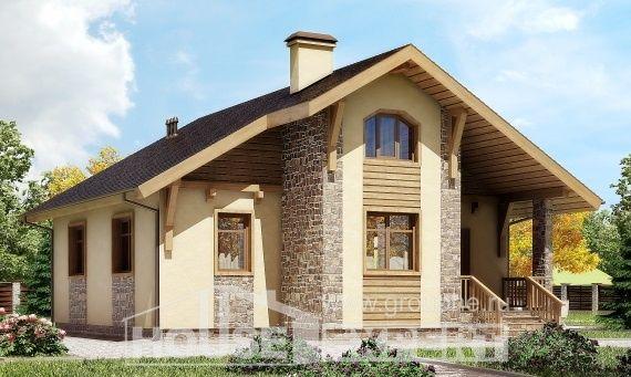 080-002-П Проект одноэтажного дома, экономичный загородный дом из твинблока