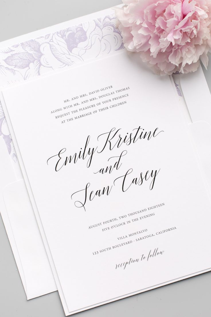 203 best wedding invitations images on Pinterest Marriage