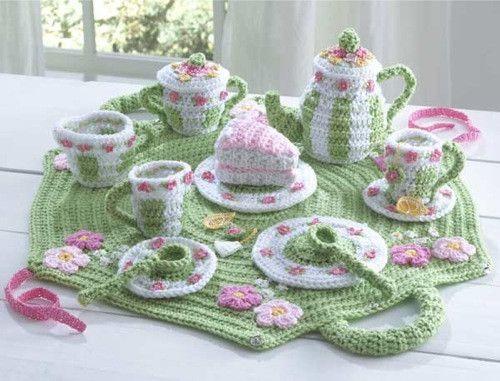 Tea Set Crochet Pattern
