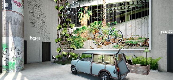 Mimořádně hravý a nápaditý hotel byl otevřen letos v lednu v berlínské čtvrti West. Jmenuje se Bikini Berlin a jeho majitelé se nebojí velkorozměrového designu. V lobby trůní trabant, obědvá se ve skleníku...