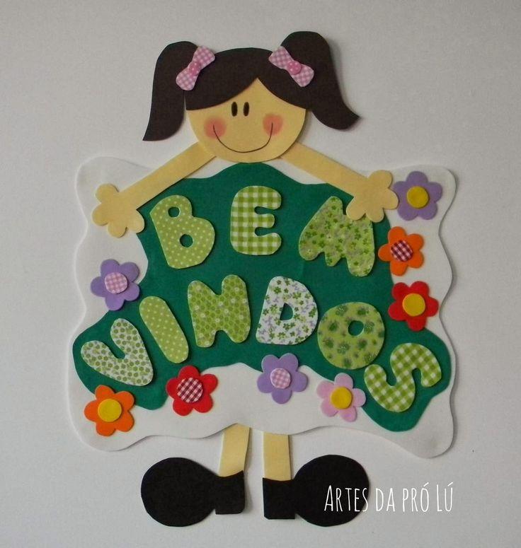 Artes da Pró Lú: Cartaz para sala de aula: boas vindas.                                                                                                                                                      Mais