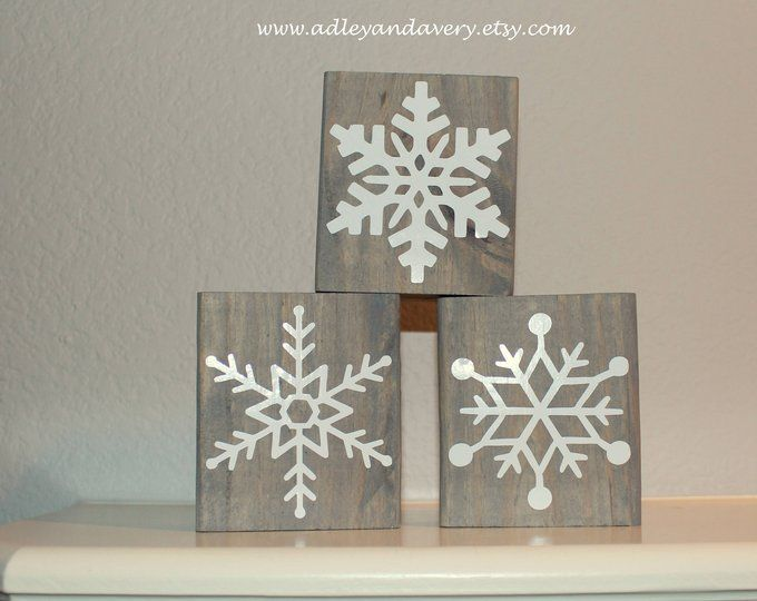 Wooden Snowflakes Small Wooden Decor Christmas Decor Etsy Wooden Snowflakes Christmas Wall Decor Wood Ornaments